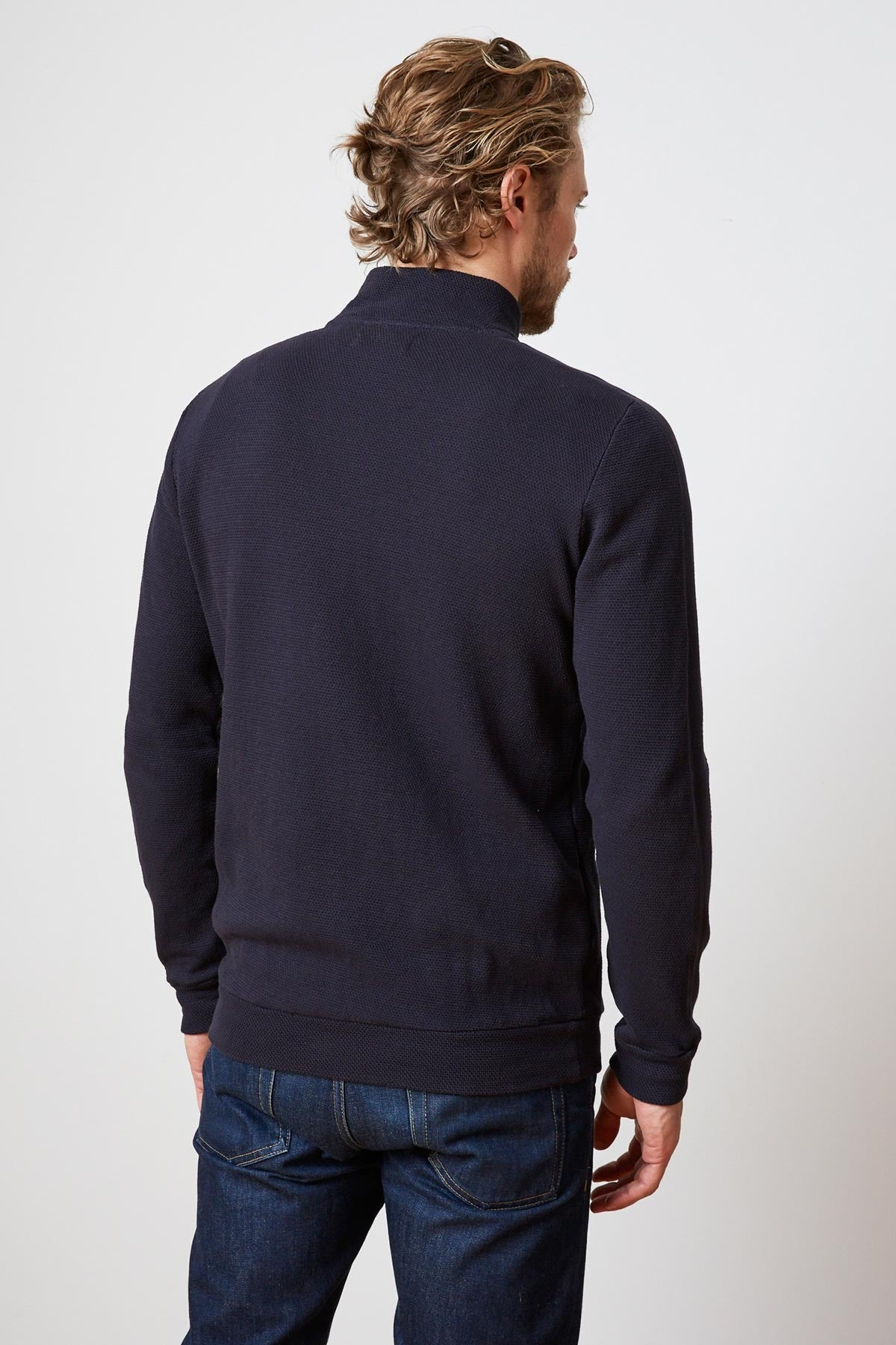 BEN TEXTURED KNIT TRACK JACKET
