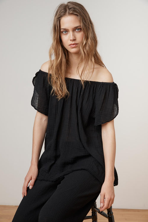 PANYA SOFT COTTON GAUZE OFF THE SHOULDER TOP