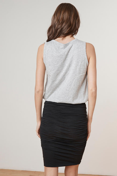 MALENE GAUZY WHISPER PENCIL SKIRT
