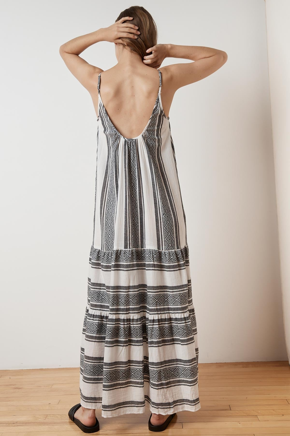 SHARON ISLAND JACQUARD CAMI MAXI DRESS