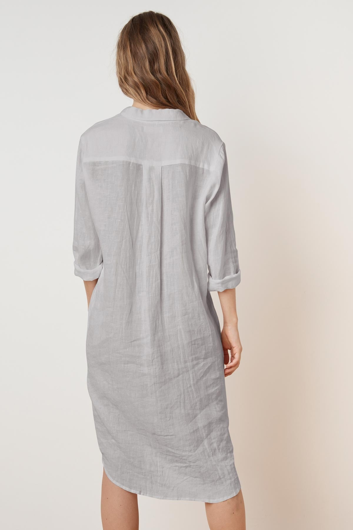 NANDY WOVEN LINEN SHIRT DRESS