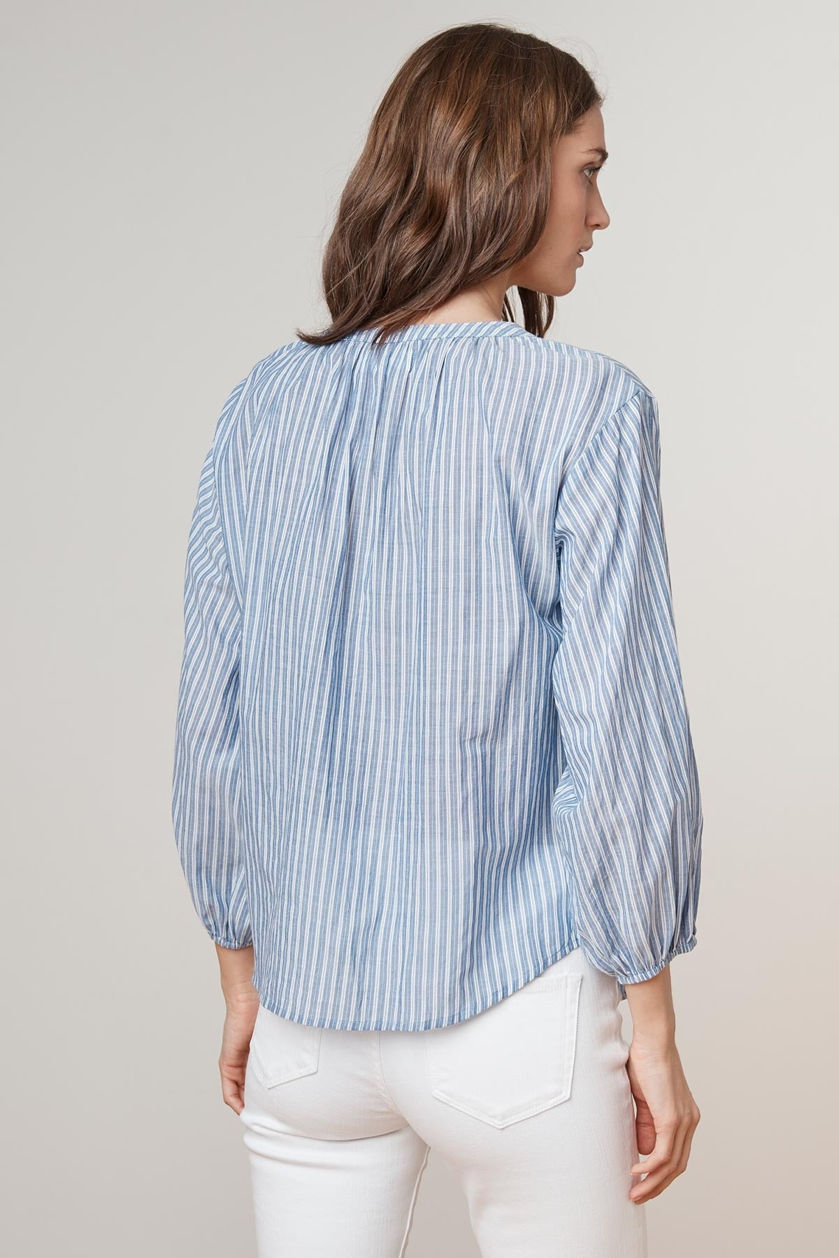 KIMO PINSTRIPE BUTTON UP SHIRT