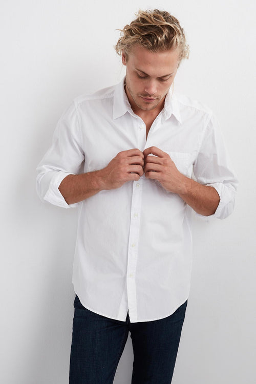 FLETCH WOVEN BUTTON-UP SHIRT