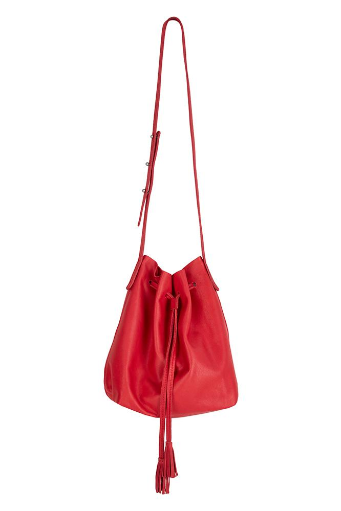 HUNTER LEATHER BUCKET BAG