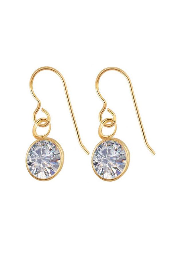 CZ BEZEL DROP EARRINGS BY SLOAN
