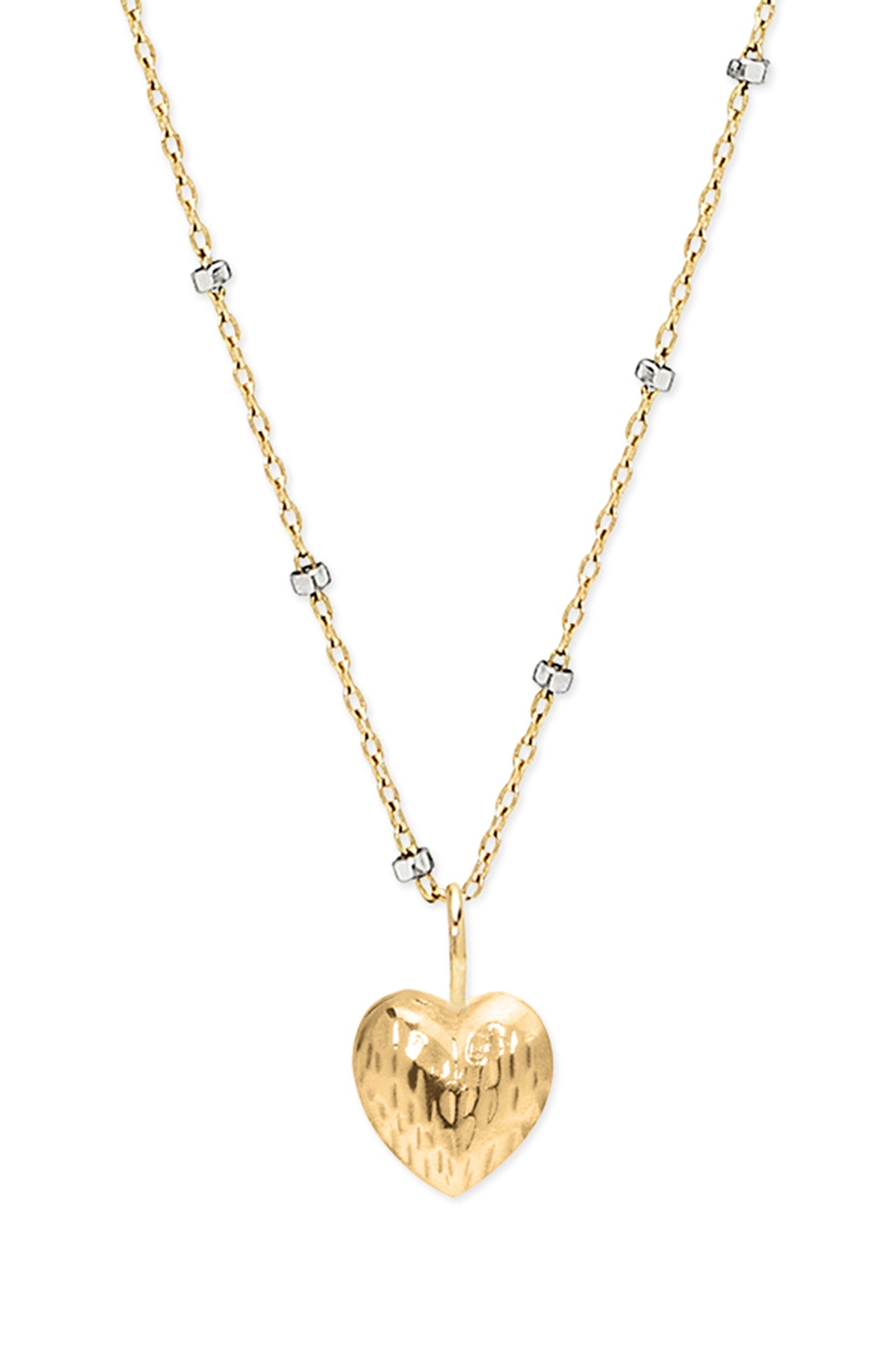 DOUBLE FACE HEART NECKLACE BY PHYLLIS AND ROSIE