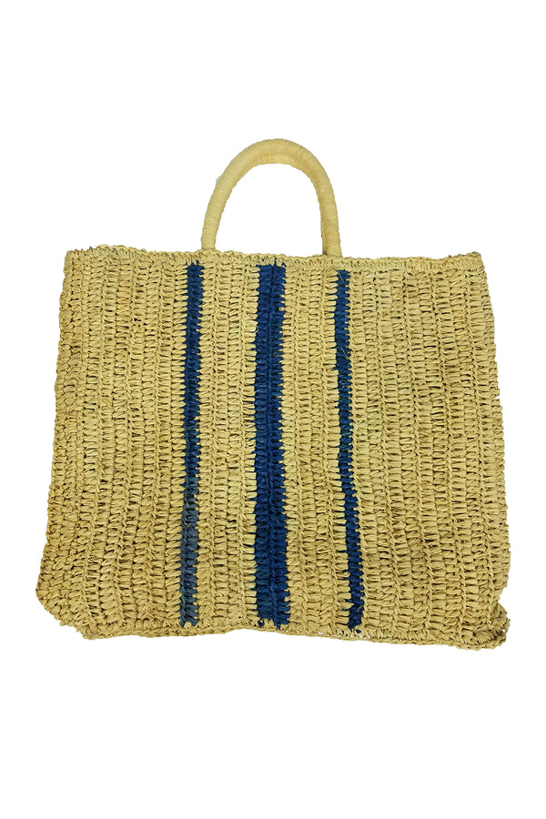 ROW STRIPE STRAW  BAG