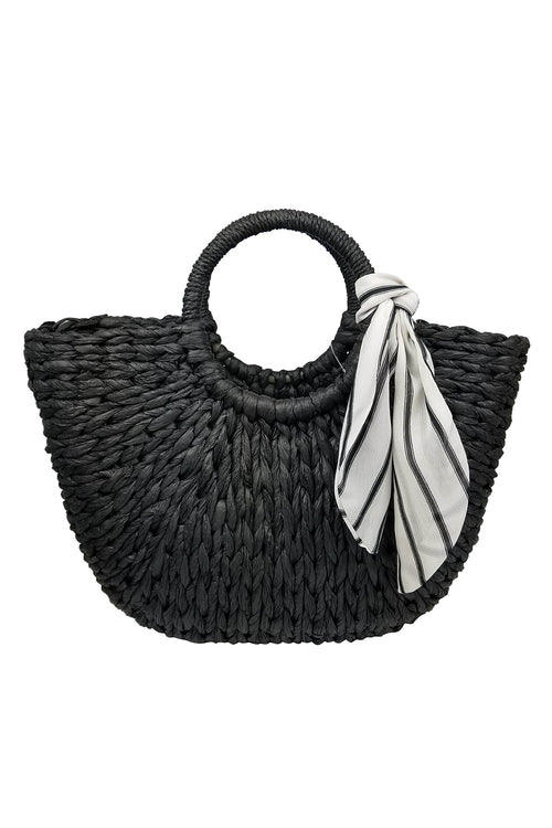 OLIVIA ROUND HANDLE SCARF TOTE