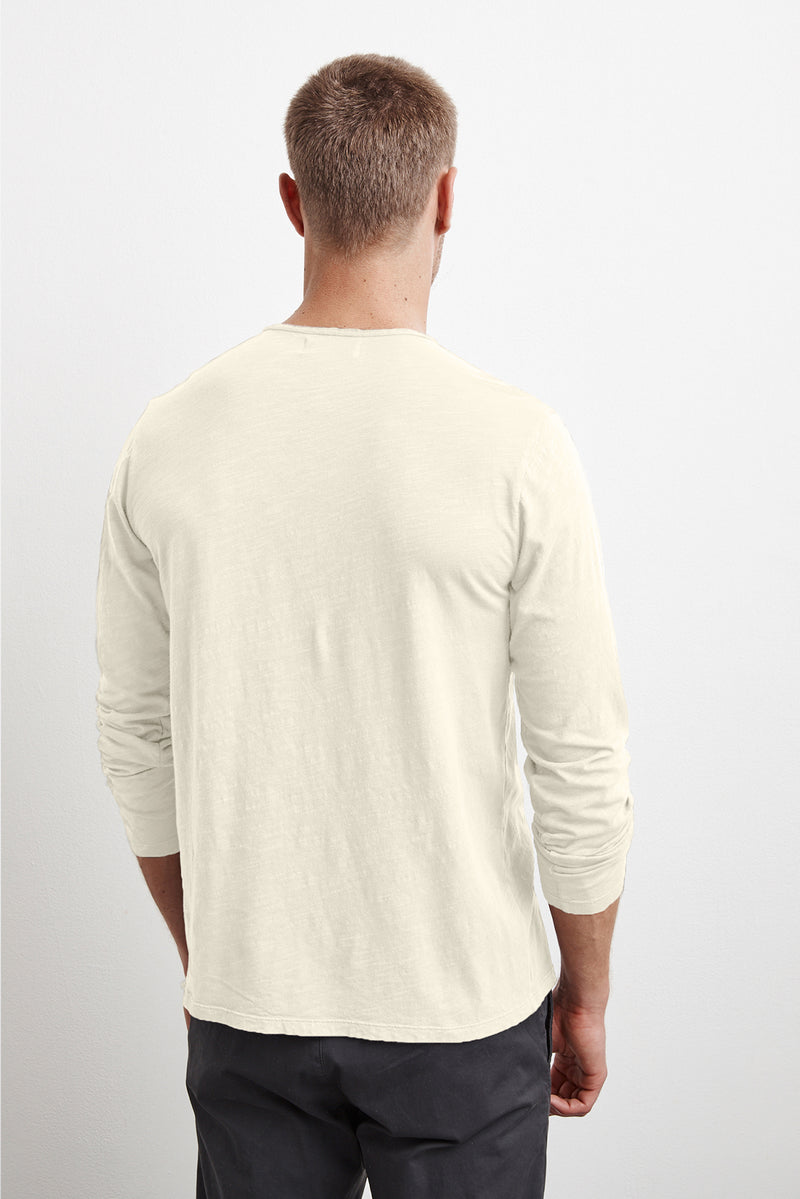 SIMEON RAW EDGE COTTON SLUB TEE