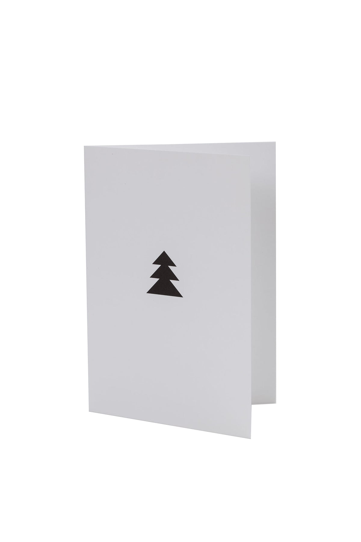 CHRISTMAS TREE GREETING CARD IN BLACK