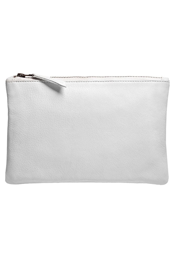 AMELIA LEATHER ZIP CLUTCH