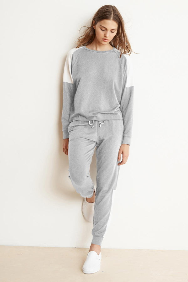 SANDY HEATHER GREY LUXE FLEECE JOGGER PANT