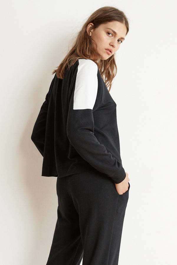 BRYN LUXE FLEECE COLORBLOCK PULLOVER
