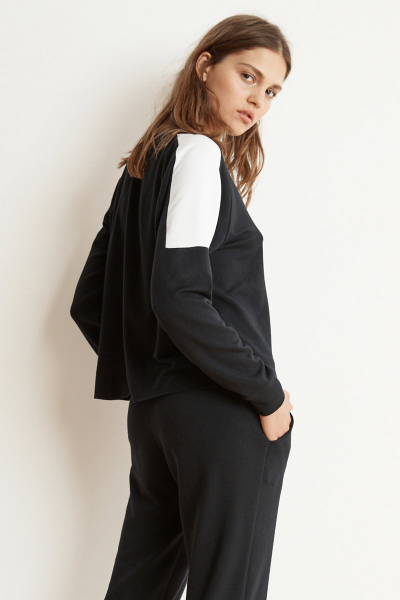 BRYN LUXE FLEECE COLORBLOCK PULLOVER SIDE