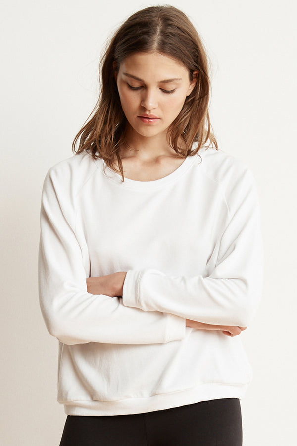 EDLYN LUXE FLEECE LONG SLEEVE PULLOVER