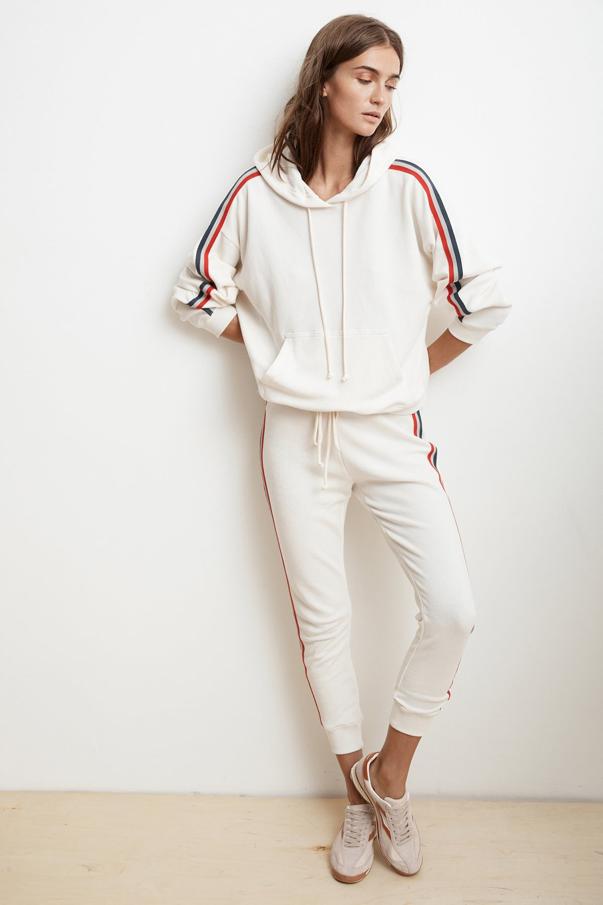 XIA STRIPE TRIM TERRY JOGGER PANT