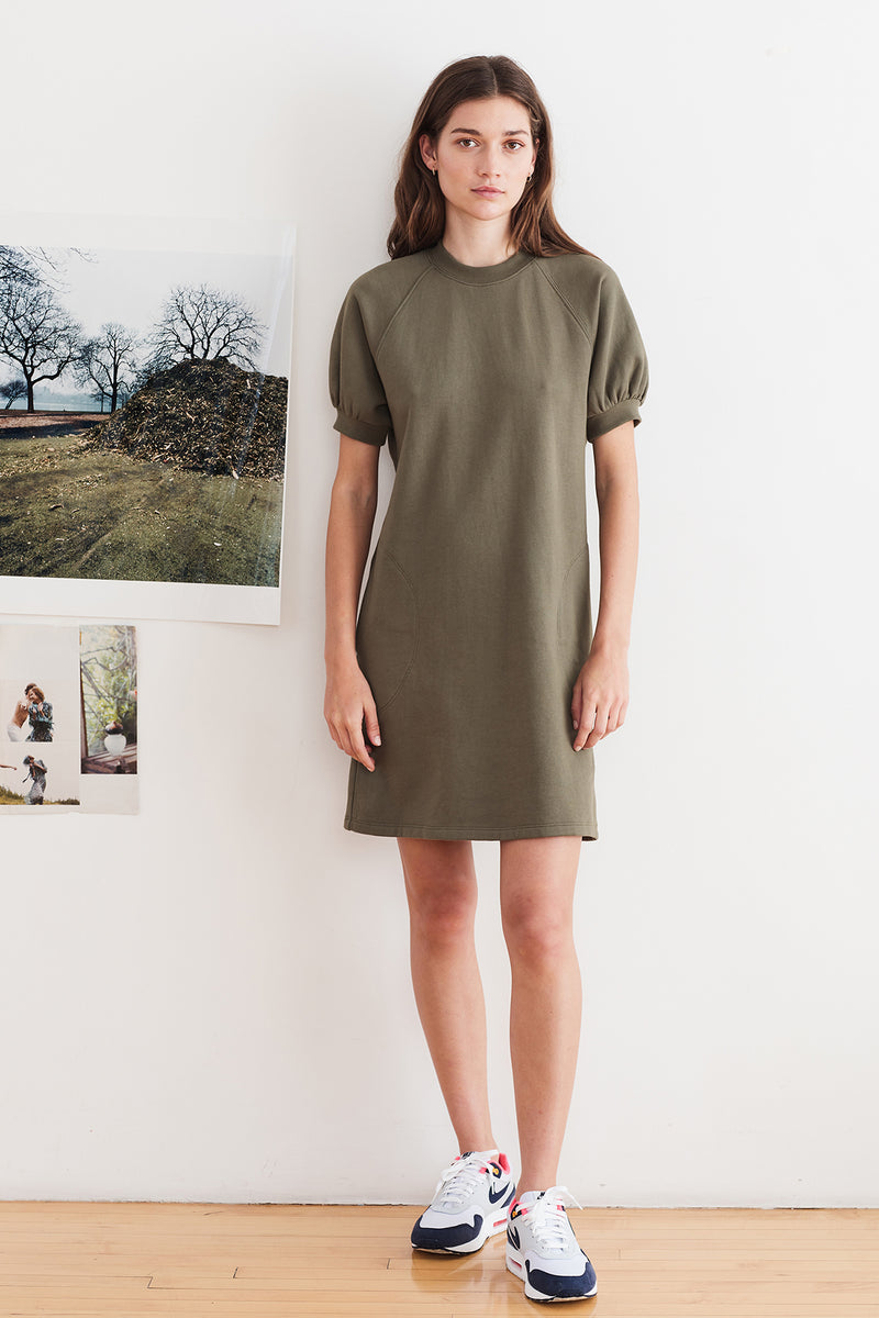 LUCY VINTAGE FLEECE RAGLAN DRESS