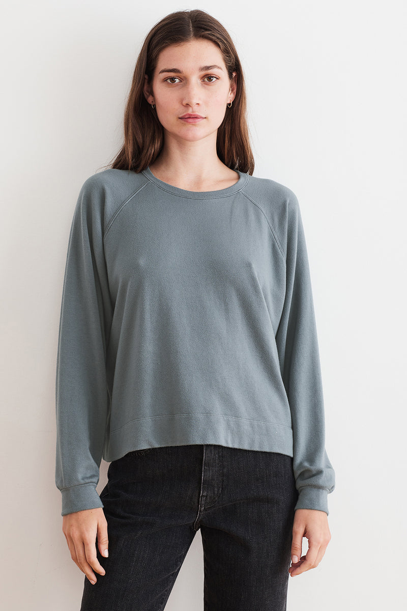 NATASHA VISCOSE FLEECE SWEATSHIRT