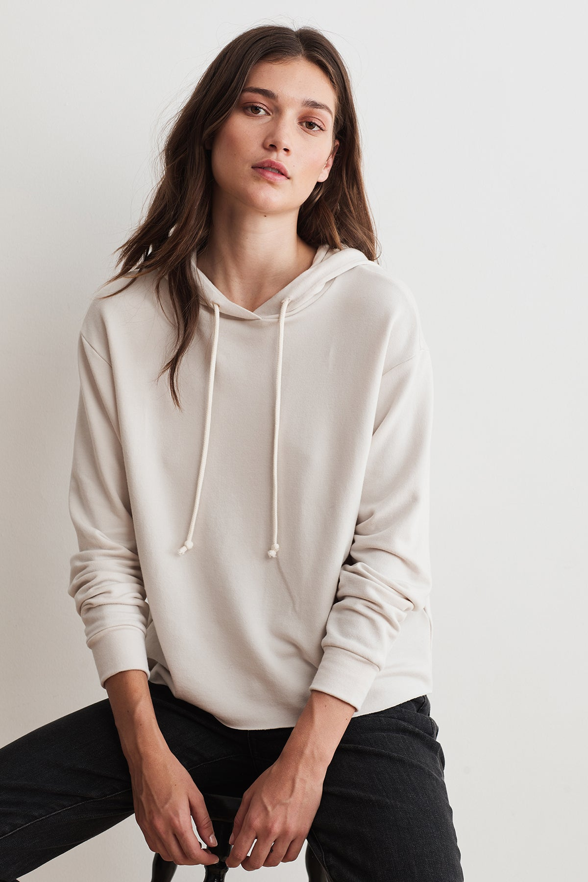 ABBY LUXE FLEECE CROPPED HOODIE