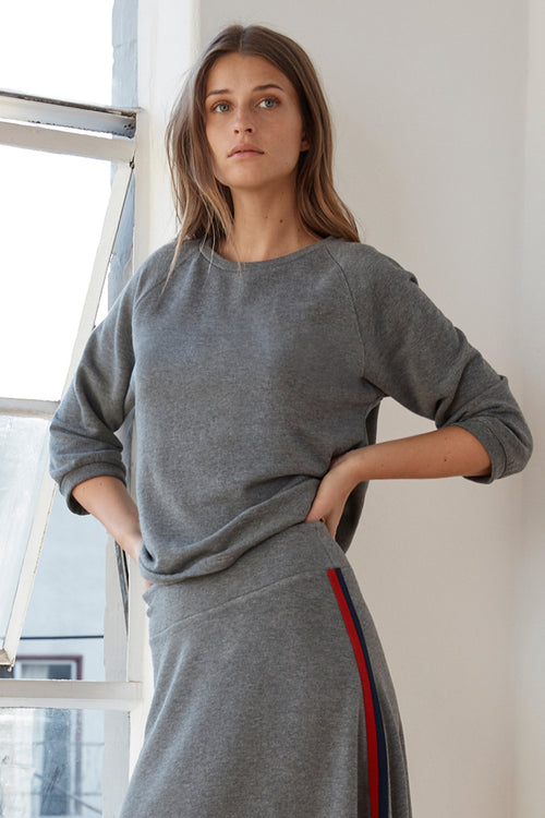 ADETTE LUXE FLEECE RAGLAN TOP