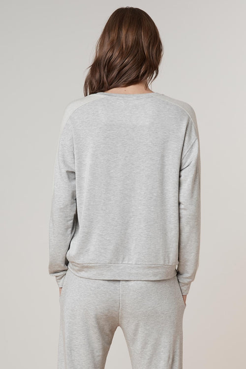 MAKOA LUXE FLEECE V-NECK SWEATSHIRT