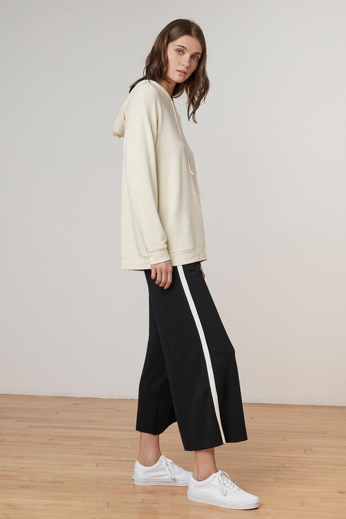 ROWAN LUXE FLEECE WIDE LEG TAPE PANT