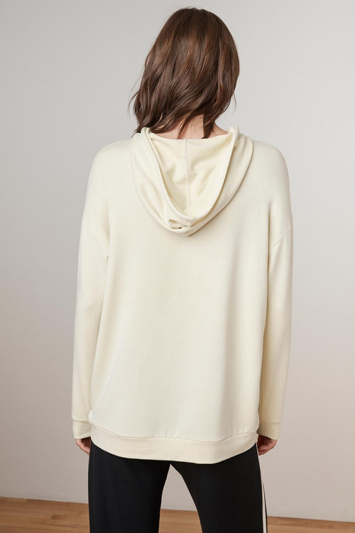 SHIRA LUXE FLEECE OVERSIZED TAPE HOODIE
