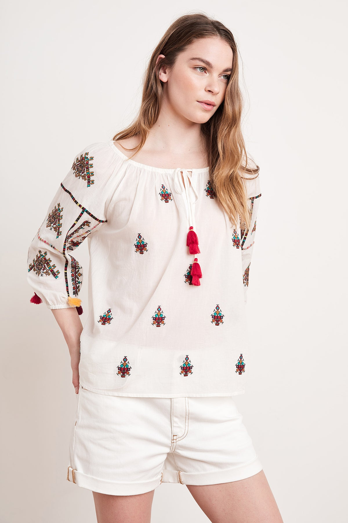 NYSSA EMBROIDERED BLOUSE