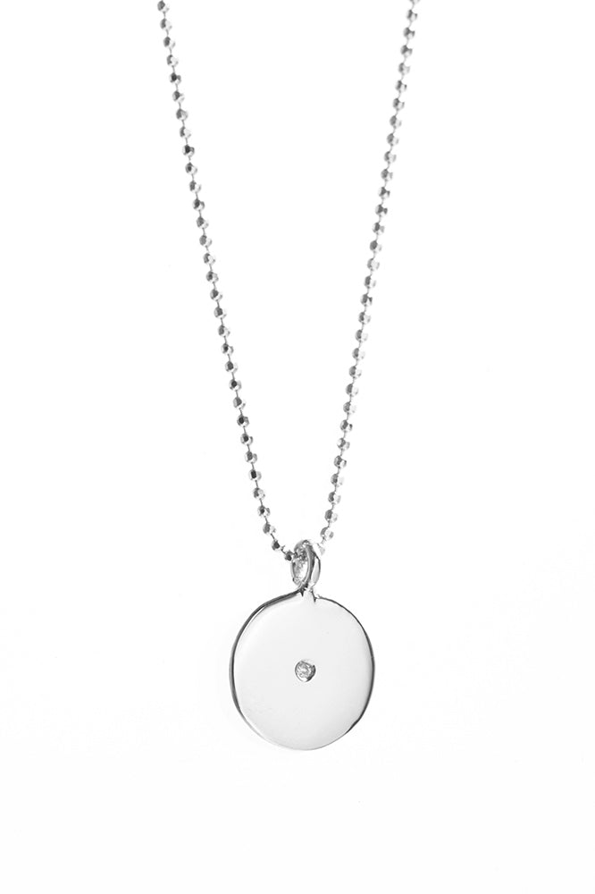 CIRCLE CHARM NECKLACE with DIAMOND by ARIEL GORDON