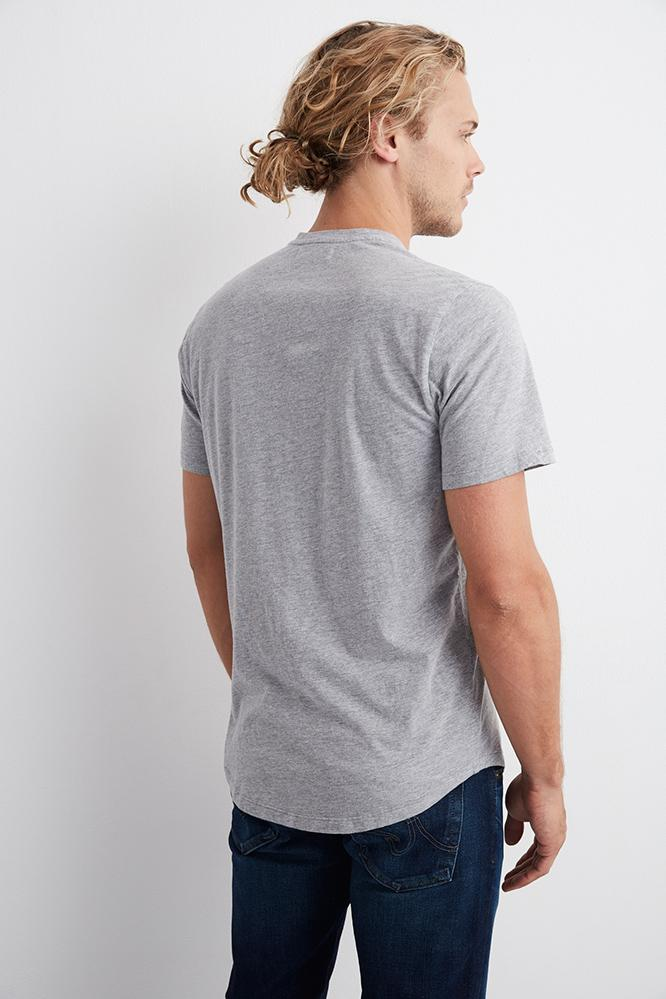 FULTON HEATHER GREY SHORT SLEEVE HENLEY