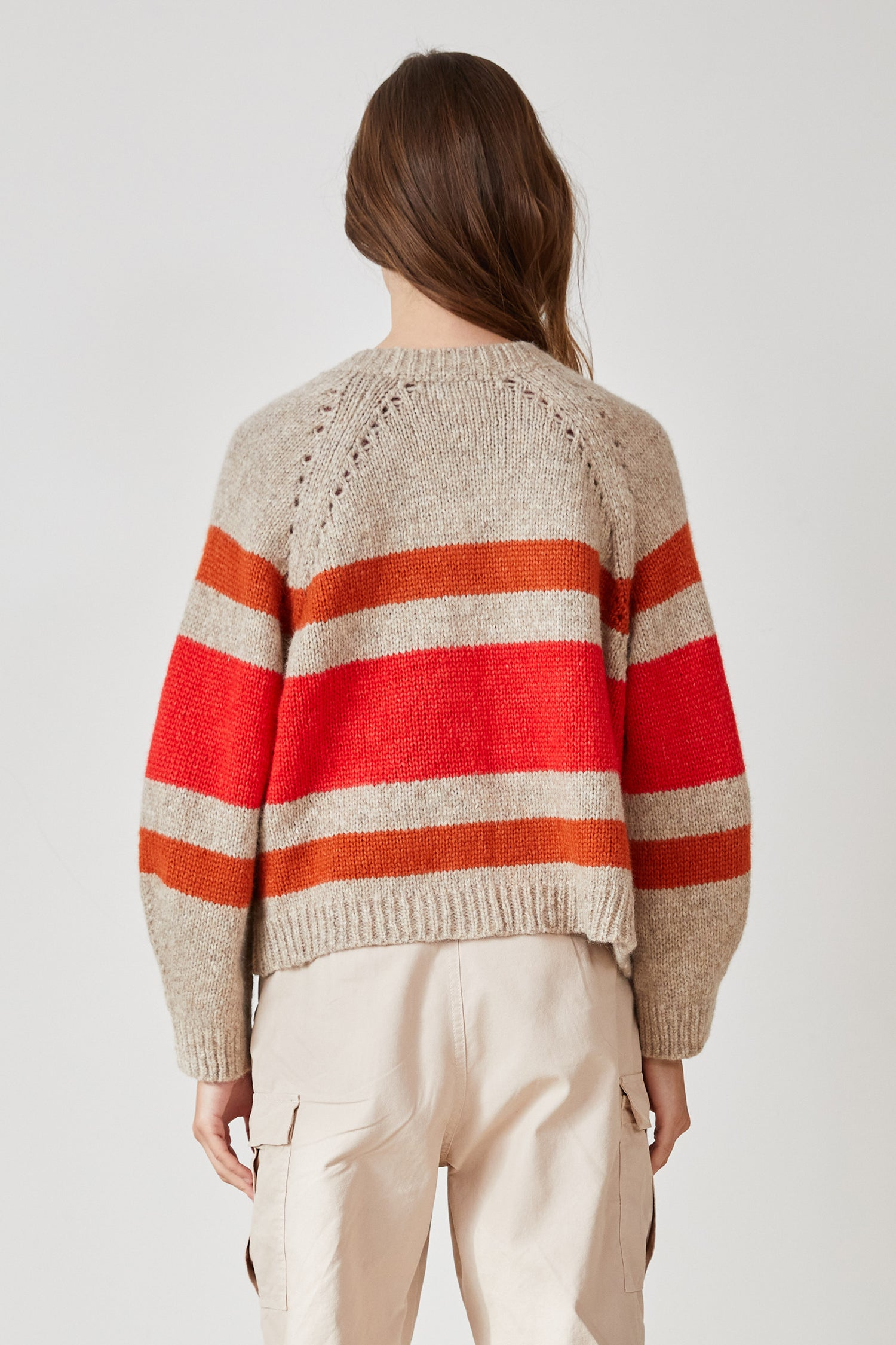ZIGGY STRIPED OPEN CARDIGAN