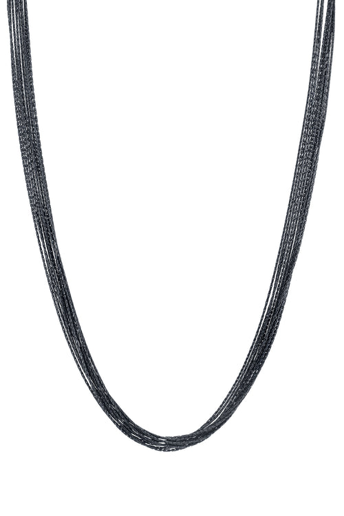 BLACK RHODIUM NECKLACE BY SLOAN