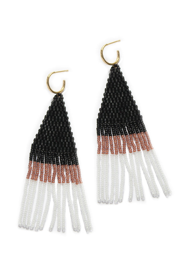 FRANJA BEADED FRINGE EARRINGS BY BLUMA PROJECT