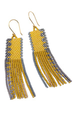 PAOLA BEADED FRINGE EARRINGS BY BLUMA PROJECT