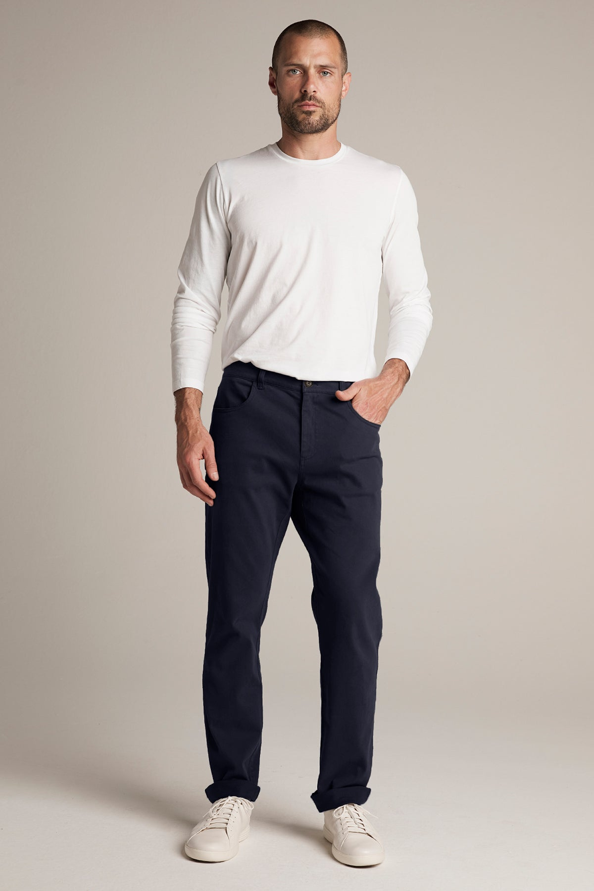 STEWART SUEDED COTTON PANT