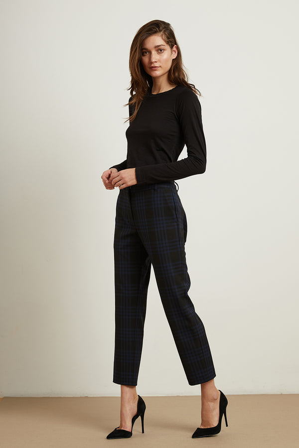 ALLISON PLAID STRAIGHT LEG PANT