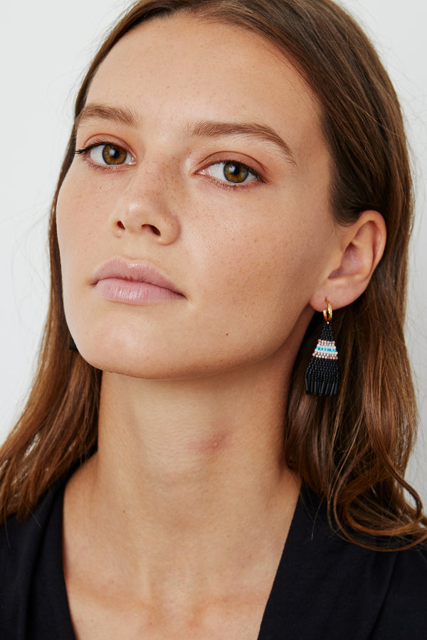 BRIE BEADED FRINGE EARRINGS BY BLUMA PROJECT