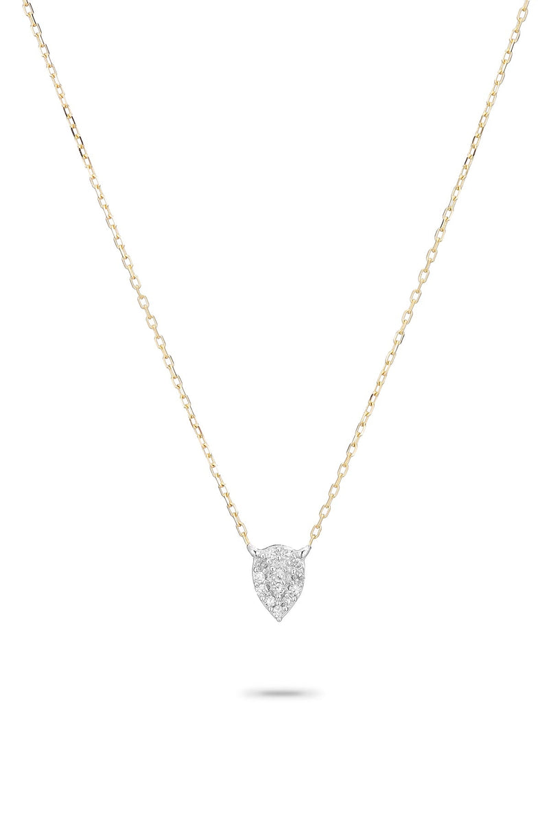 SUPER TINY SOLID PAVÉ TEARDROP NECKLACE by ADINA REYTER
