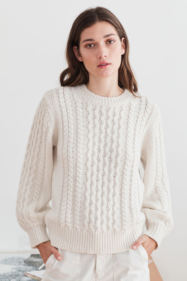 KIANA CABLE KNIT SWEATER
