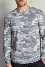 BRONSON CAMO COZY JERSEY KNIT TOP