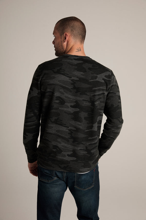 NEO CAMO PRINT FLEECE SWEATSHIRT