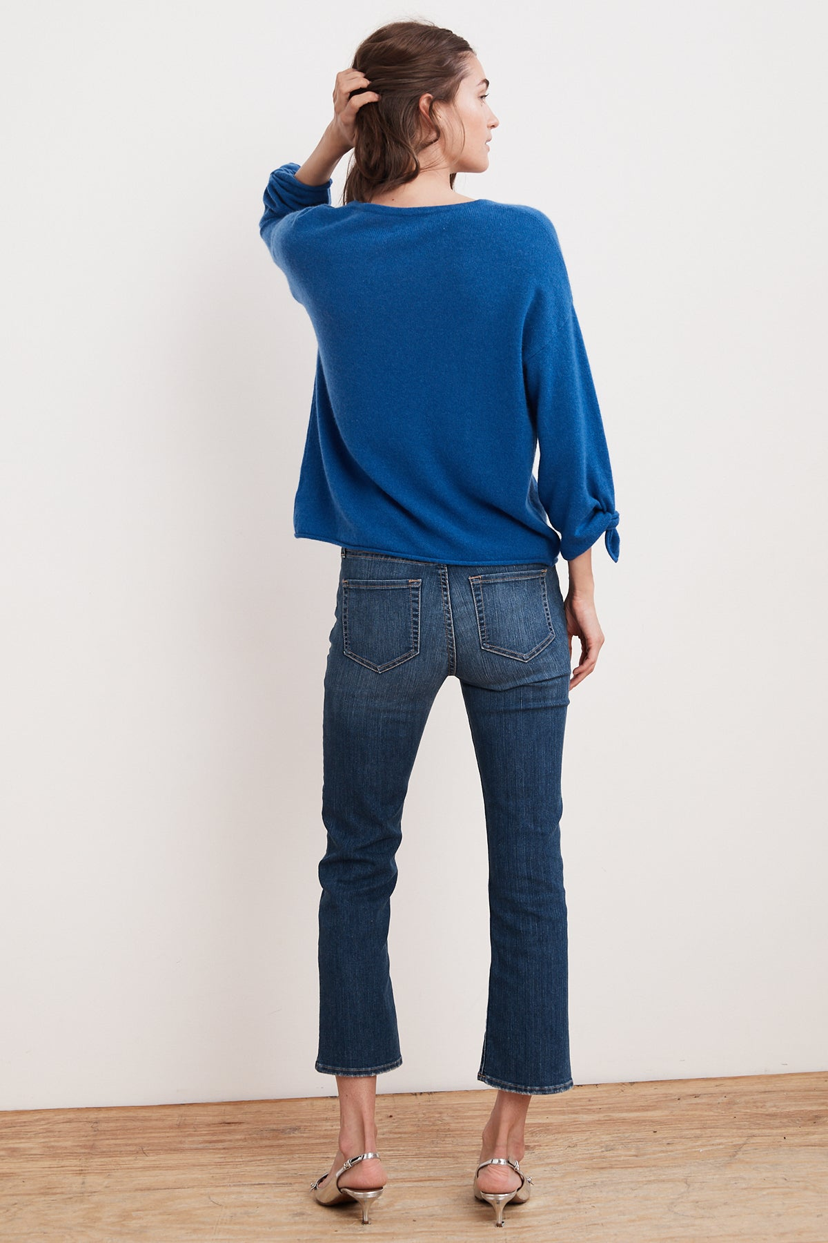 FREJA 3/4 TIE SLEEVE CASHMERE SWEATER