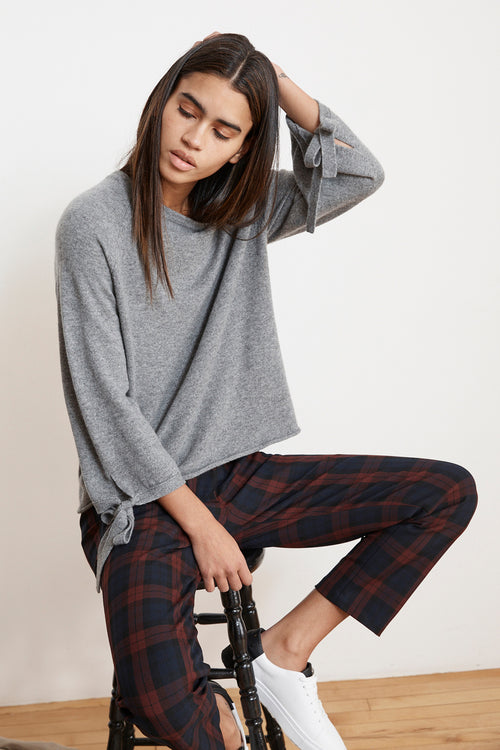 BRENLEY STRETCH PLAID PANTS