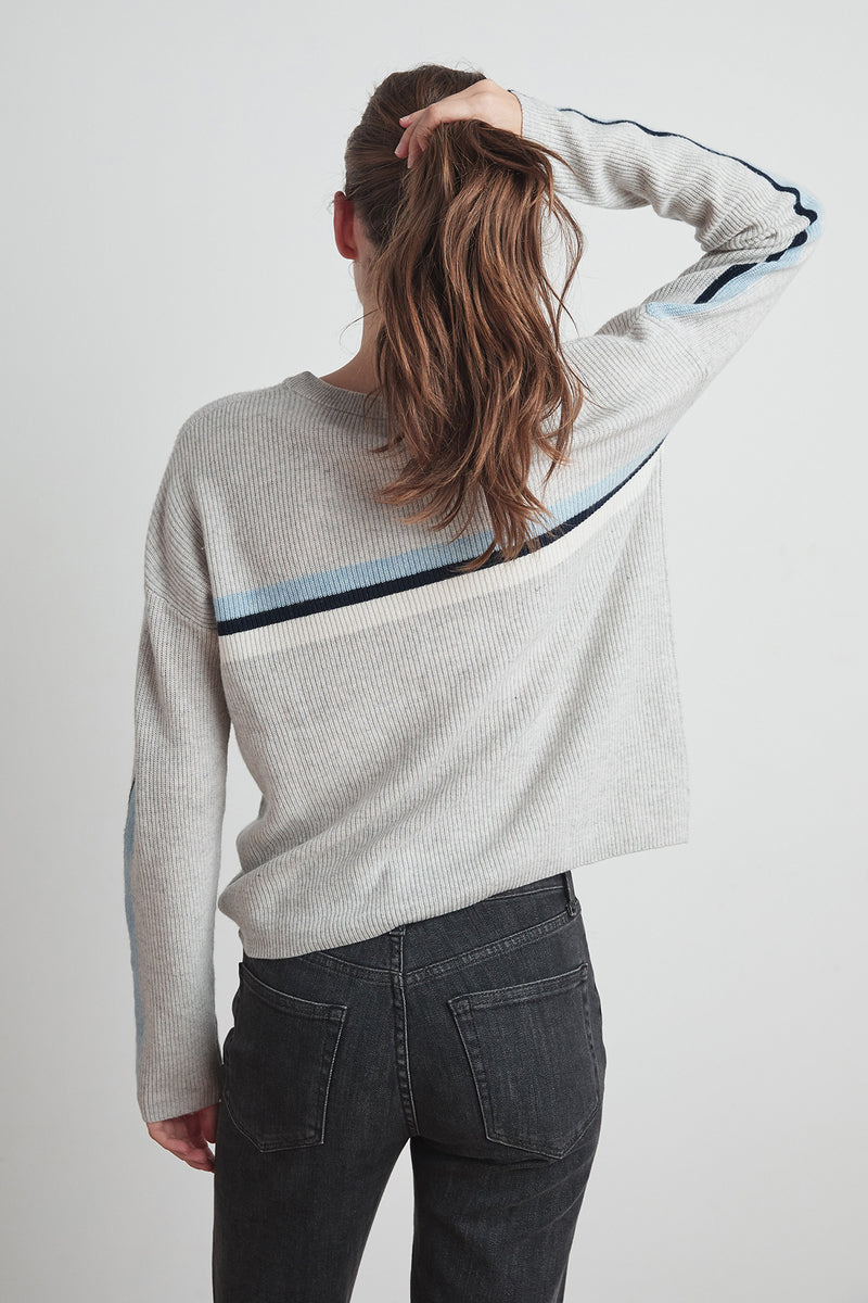KYLA CASHMERE BLEND STRIPE SWEATER