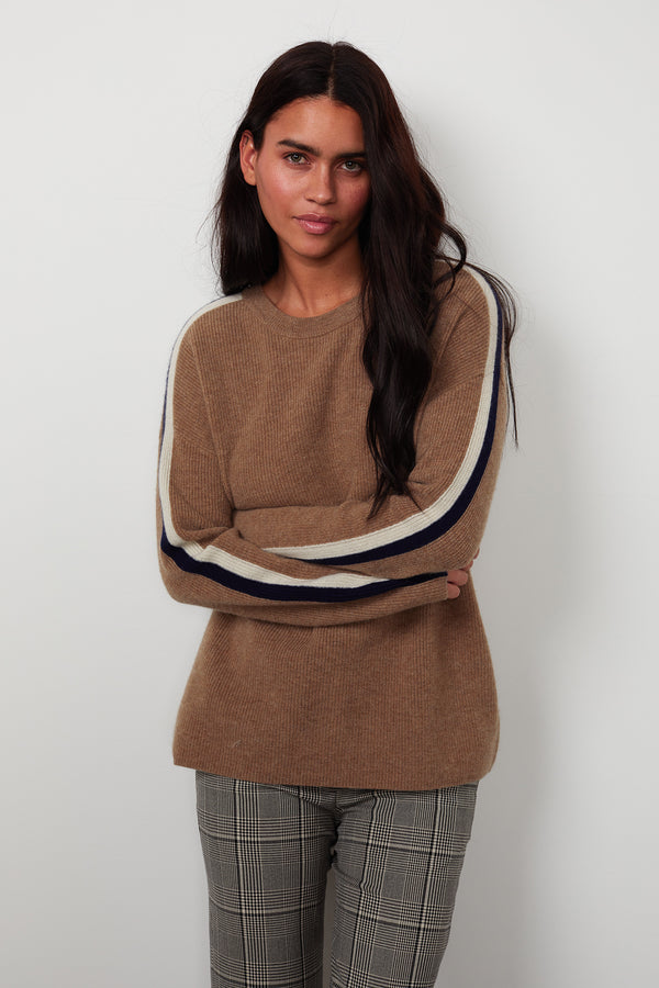 ELIANA STRIPE CASHMERE SWEATER