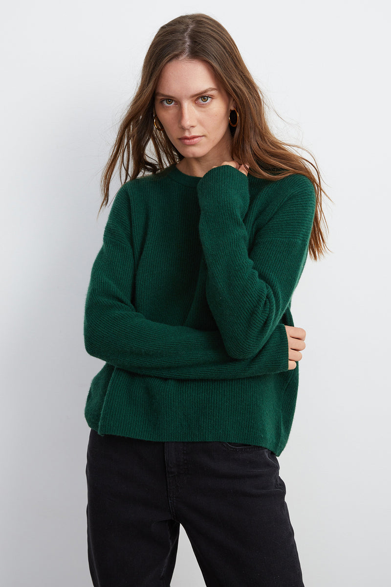 MICHAELA CASHMERE CREW NECK SWEATER