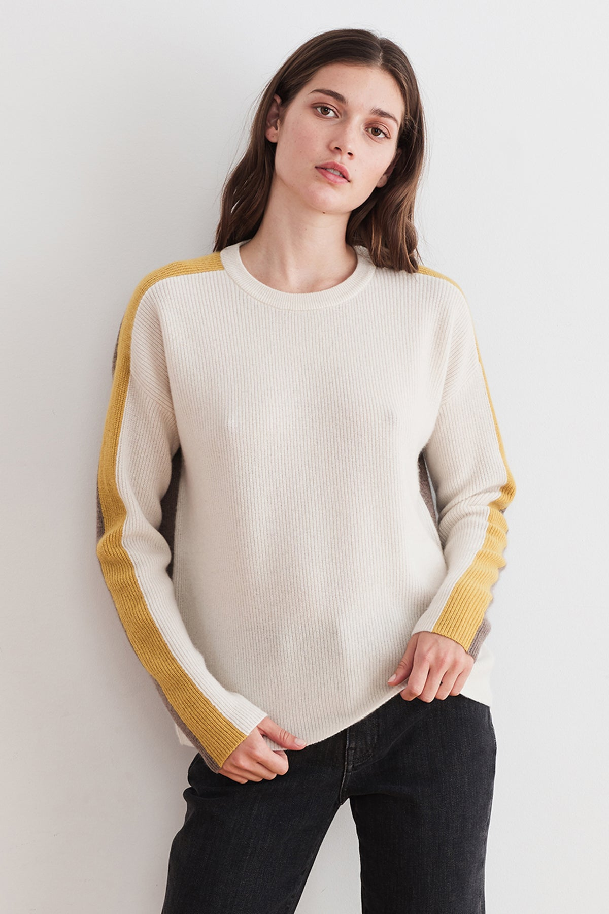 POLLY CASHMERE STRIPE SWEATER