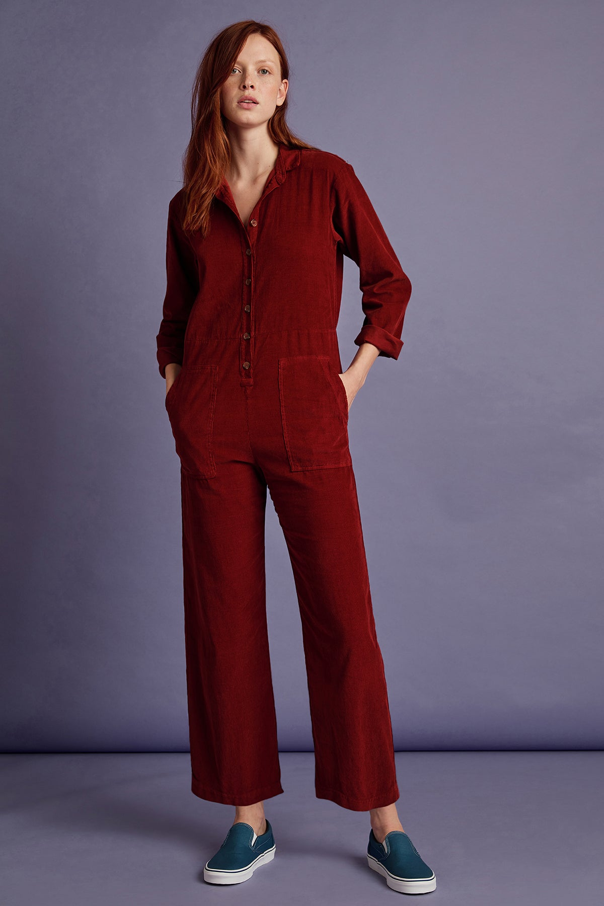 DELANEY CORDUROY LONG SLEEVE JUMPSUIT