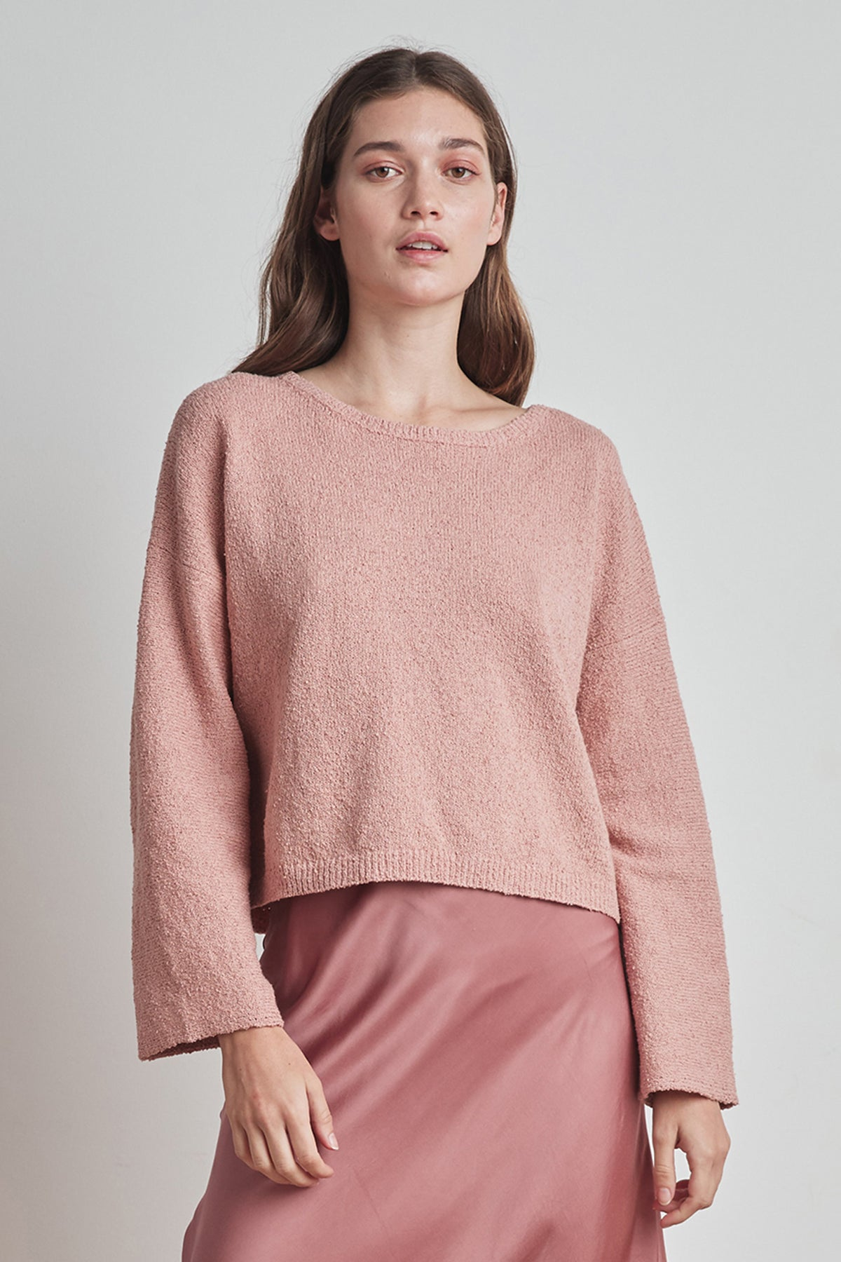 EMERY COTTON BOUCLE SWEATER