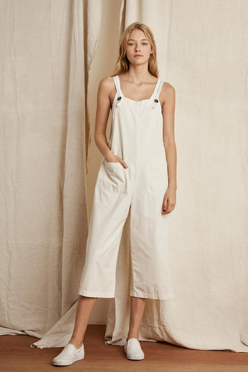 BRIANNA COTTON CANVAS OVERALLS